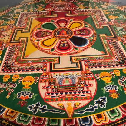 Tibetan sand mandala: yep, this thing is made of sand.