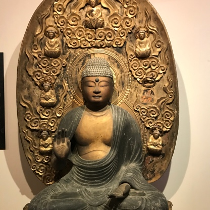 An 800-year old statue of the Amida Buddha.