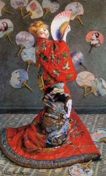 Camille Monet in Japanese Dress, 1876