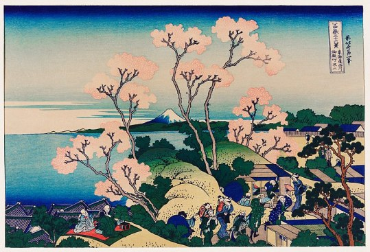 Hokusai, cherry blossom