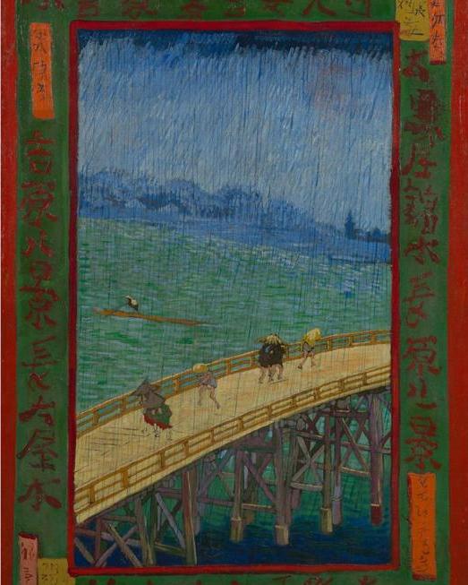 Van Gogh imitates Hiroshige